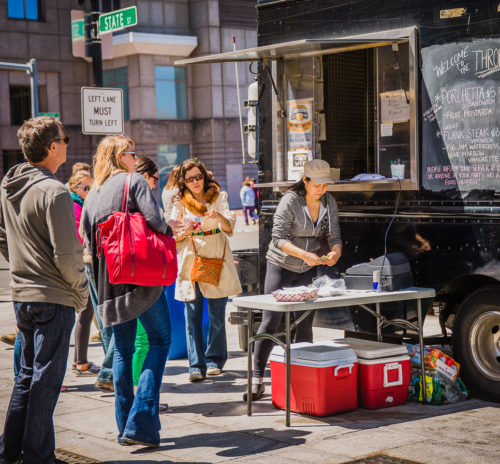 Food truck on the Rose Kennedy Greenway (NEWF Photo)