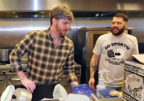 Owner Nick Moeller and chef Zac Jenkins prep food at Casa Azafrán for the Electric Sliders food truck in Nashville. (Photo: Samuel M. Simpkins / The Tennessean)