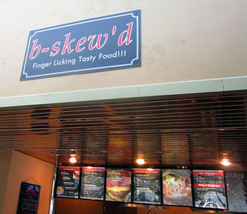 Located in the Mall of the Bluffs' food court, b-skew'd is open Monday through Saturday, 10 a.m. to 6 p.m., and Sunday, noon to 5 p.m
