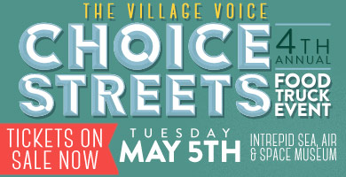 Manhattan, NY: May 5th: Village Voice Choice Streets Food Truck Event