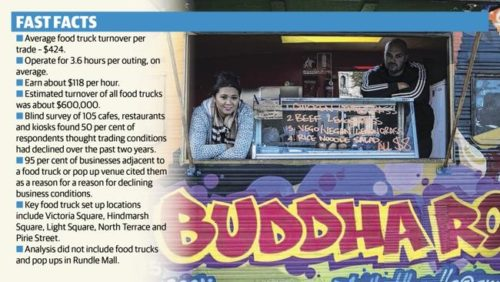 Sokha Khun and Joel Schulz with their food truck, Phat Buddha.
