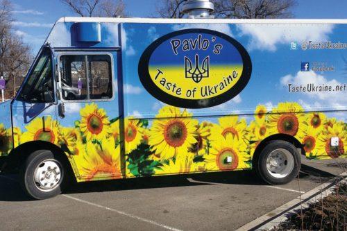 Pavlo Makolondra Pavlos Taste Of Ukraine Food Truck With Ukrainian Themed Artwork