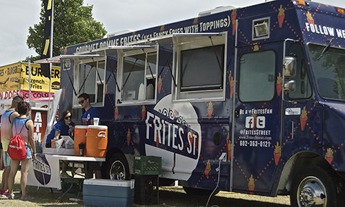 A new food truck will join the rotating cast of local meals on wheels. Frites Street is the brainchild of Flip Isard and Braden Jones, two guys looking to put a gourmet spin on French fries. (Francesco Onorato/DD)