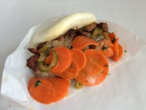 (Sarah Fritsche) Spicy chicken bao from The Chairman food truck