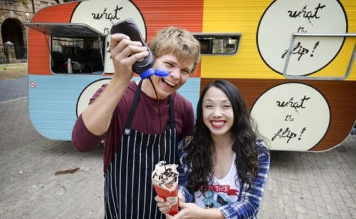 Flip food truck owner Andrew Shugg and event organiser Ai-Ling Truong Picture : Ian Munro /The West Australian