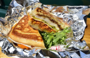 The very popular Lola sandwich from The Muthah Truckah Food Truck owned by Erica Dionne. Gordon Chibroski/Staff Photographer