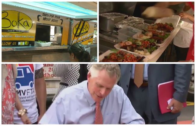 Richmond, VA: Gov. McAuliffe signs law to allow food trucks in Virginia to set up shop on state roads