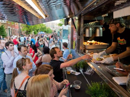Night Market is a roving street fair celebrating the city's ethnic restaurants, gourmet food trucks and coolest neighborhoods from the people who brought you Headhouse Farmer's Market. (Photo: Dave Tavani)