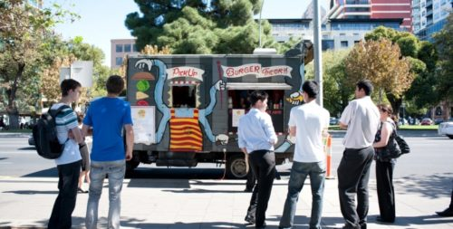 The Burger Theory food truck was in the vanguard of Adelaide's pop up culture. Photo: Nat Rogers/InDaily