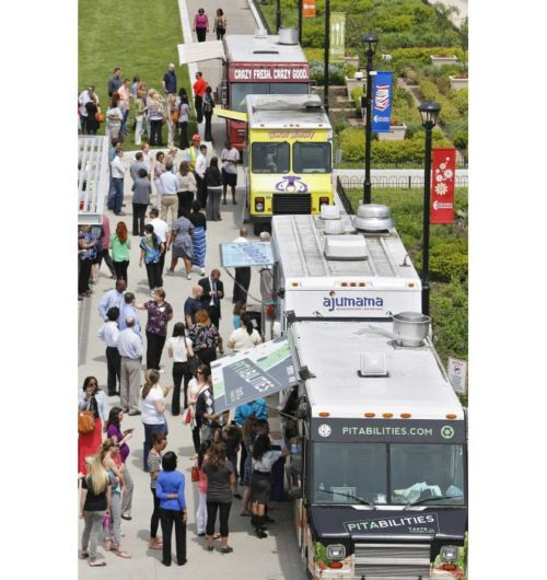 DISPATCH FILE PHOTO  Food trucks parked at Columbus Commons