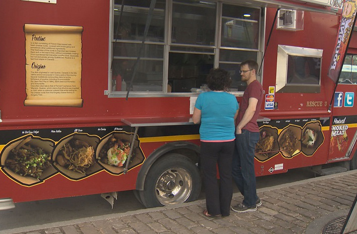 Winnipeg, CAN: Food trucks sell out day one at The Forks in Winnipeg
