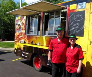 Bruce and April Durnell of Cheesy Pops' Pizza food truck.