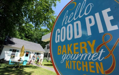 Hello Good Pie Co. Bakery has opened a new location at 39 Main St. in Belgrade Lakes at the site of the former Brass Knocker Gift Shop. Staff photo by Michael G. Seamans