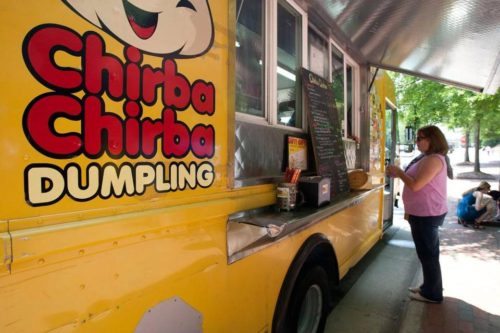 The Chirba Chirba Dumpling food truck will be at the Chatham Street Chowdown in downtown Cary on July 26. Sarah Shaw - sshaw@newsobserver.com