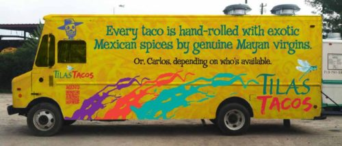 The well-known Tila's Tacos truck will appear, along with many others, at this Saturday's  ForTheLoveOfFoodTrucks festival.