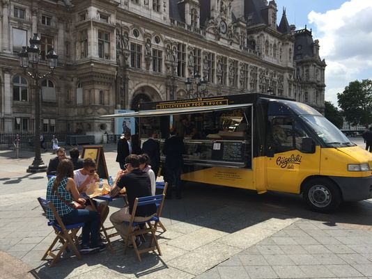 Paris, FRA: Food trucks finally arrive in food-fussy Paris, and people like them