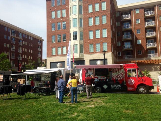 Columbus, OH: Some food trucks using Ohio-grown soybean oil to fry up food at Columbus Com