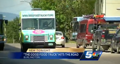 Burlington Vt Good Food Truck Serves Lunch Raises