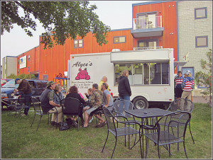 Alyce's Food Truck is located in downtown Grand Marais. |SUBMITTED