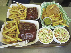 Slow-cooked ribs, seasoned fries and homemade slaw. | SUBMITTED