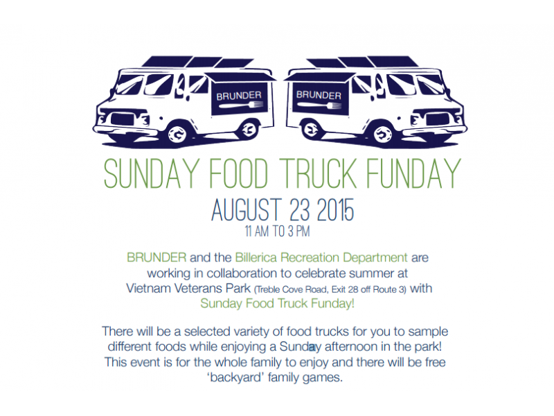 Billerica, MA: Food Truck Festival Coming To A Nearby Park Sunday