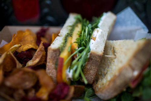 Wild Violet, a new food truck in the Ann Arbor Area that features fresh sandwiches, has been hitting the streets both downtown as well as at local farmers markets and spots in Ypsilanti. Pictured Friday August 14, 2015 in Ann Arbor, Michigan. Dominic Valente | The Ann Arbor News