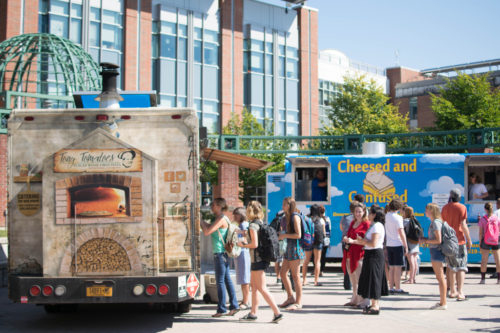 Campus Auxiliary Services brought the second food truck festival to campus on Thursday Sept. 17. There was a large array of food and drink offerings.