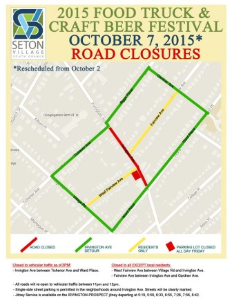 Santa Fe, NM: Street Closure Map for Seton Village Food Truck & Craft Beer Fest Oct. 7
