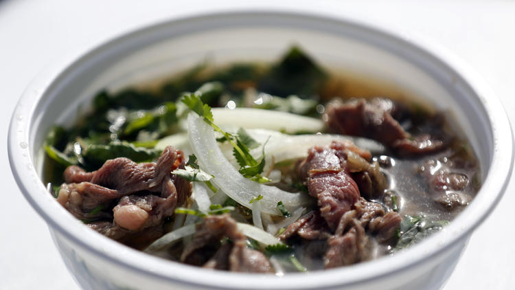 Los Angeles, CA: Pho, Spam musubi and more emerge from the window of this food truck