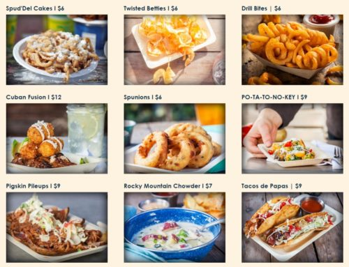 Spud Nation Food Trucks will launch with these  nine menu items - made with a vast array of U.S.  potato products.