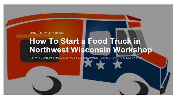 Superior, WI: Workshop offered at UWS on starting food truck business