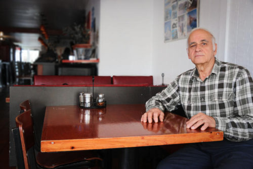 George Kraniotakis, owner of George's Pizza, says that if the town allows food trucks to sell on Provincetown streets, it would kill some of the smaller food businesses  in town. EDIE KENNEDY