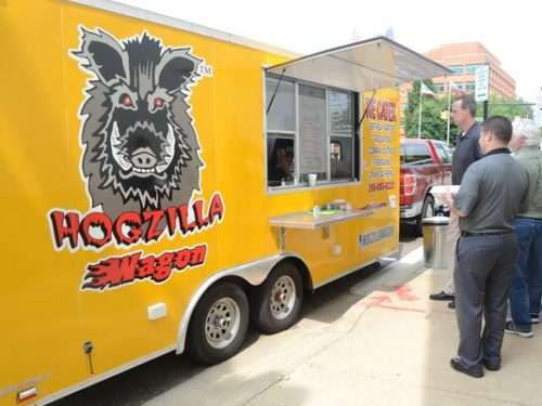 Hogzilla Squeals on Wheels was the first food truck to operate on  Jackson Street in downtown Battle Creek after city commissioners  approved the ordinance in July 2014. (Photo: Enquirer file)