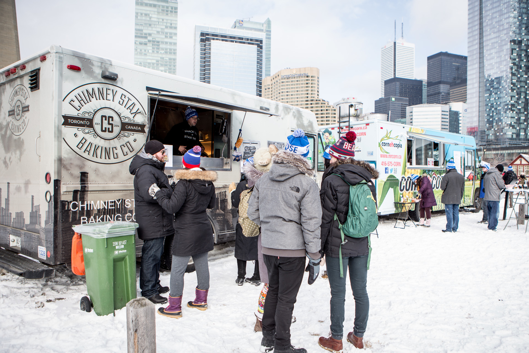 Toronto, CAN: Food trucks at Roundhouse Winter Craft Beer Festival