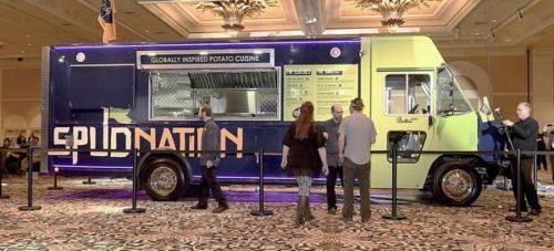 The U.S. Potato Board unveils its new food truck, which will serve  creative potato dishes in the Denver area, on Jan. 13 in Las Vegas during the National Potato Council's Potato Expo 2016. USPB hopes to grow the program to have as many  as 500 potato trucks