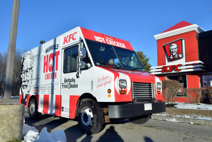 Louisville Ky Kfc Food Truck Rolls Through Nashville Mobile Food