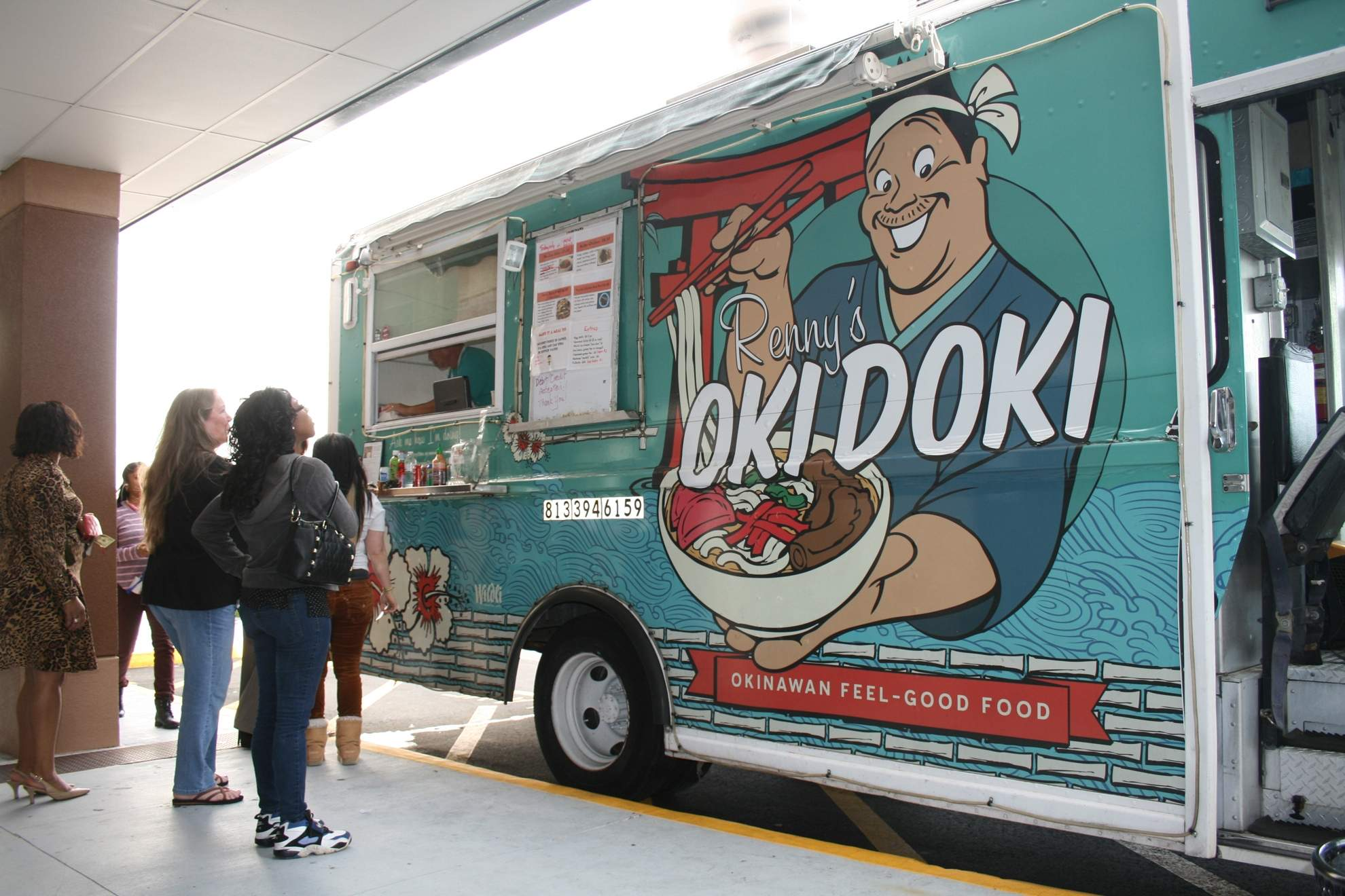 Tampa, FL: This food truck is Oki Doki with diners
