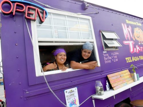 Veronica Pina and Horacio Pina are co-owners of My TaKito — one of three food trucks operating in a lot behind Kline's Dairy Bar in Waynesboro on Wednesday, Sept. 9, 2015. (Photo: Mike Tripp/The News Leader)