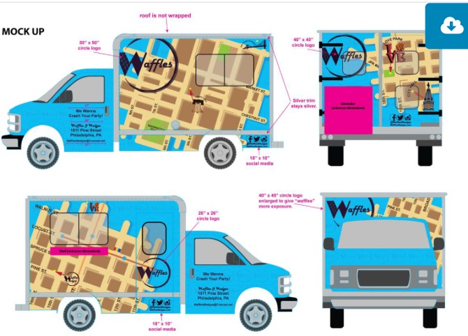 Philadelphia, PA: Waffles and Wedges Going Mobile with Waffles Truck