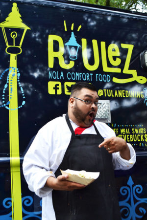 Ernest Servantes, winner of Food Network's  Chopped Grill Master was a guest chef at Roulez. Submitted by Mike Strecker