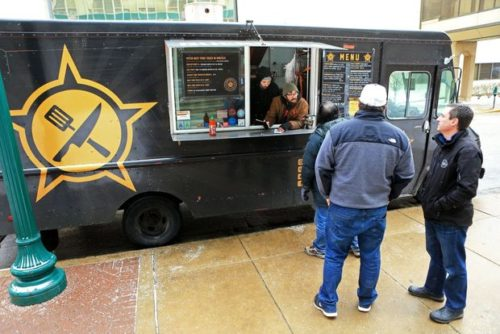 Crestwood aldermen voted Tuesday night to let  food trucks like this one, Guerrilla Street  Food truck, operate on its streets.  Photo by Christian Gooden,  cgooden@post-dispatch.com