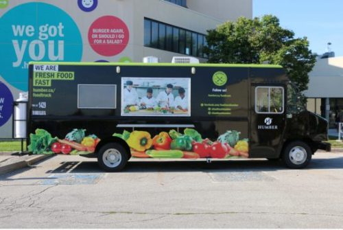 COURTESY OF HUMBER COLLEGE Students from various programs including culinary arts, events  management and nutrition help run  Humber's food truck located at the college's  north campus.