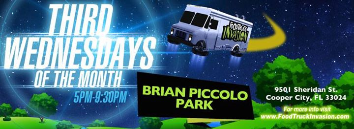 Cooper, FL: Cooper City – 3rd Wednesday Food Truck Invasion at Brian Piccolo Park