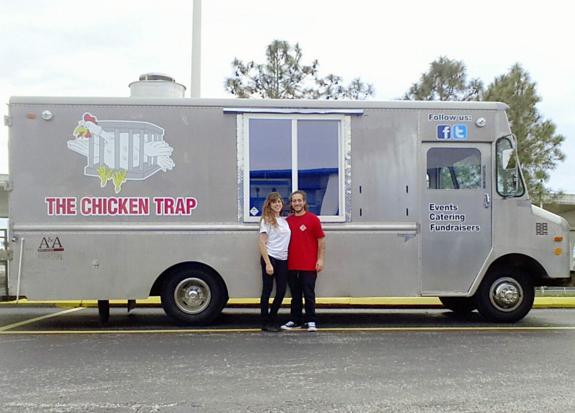 Chicken Trap Food Truck Gallery Coloring Pages Adult