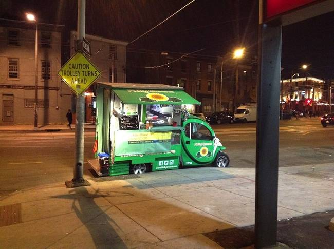 Philadelphia, PA: There's no fuming about this food truck – it's electric.