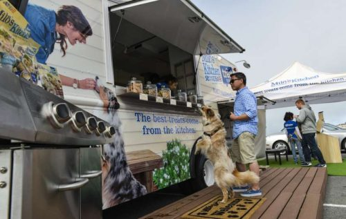HANDOUT/Eli Zaturanski The Milo's Kitchen Treat Truck  is a for-dogs-only food truck that's in  metro Atlanta this weekend as  part of a 12-state tour. CONTRIBUTED BY ELI ZATURANSKI