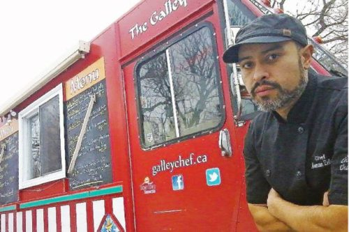 Norman Zeledon operates The Galley  food truck. He hopes to see  more food trucks move into the  downtown, something, he says  that will help attract more people  and more business.