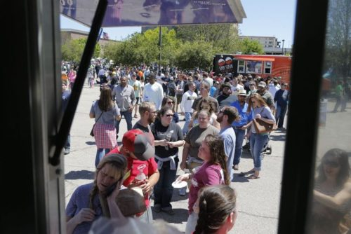 Despite long lines, including for Savery's trailer offering cookie dough egg rolls, added space and a bigger volunteer force helped keep things organized at the second Texas Food Truck Showdown.
