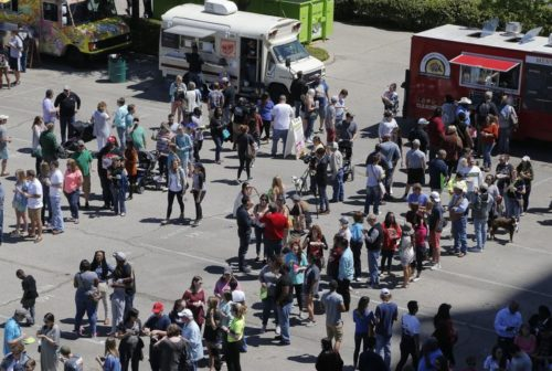 Added space and a bigger volunteer force helped sometimes long lines flow smoothly this year at the Texas Food Truck Showdown.