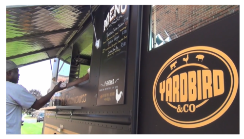 "The ""better burger"" craze is still going strong  in Connecticut, but Eric Stagl thinks it's time  for chicken to have its turn in the spotlight.  His truck, Yardbird and Co., specializes in  fried-chicken sandwiches.  Find out more here."